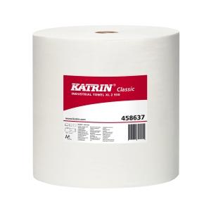 Priemyselné utierky v kotúči Katrin 458637 biele, 28 cm x 260 m, 2 ks