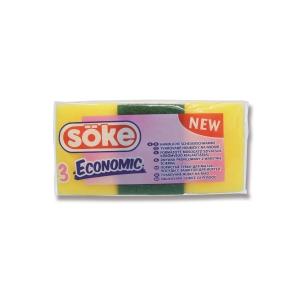 Hubky na riad Söke malé, tvarované - 3 kusy