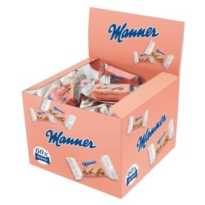 Plnené oblátky Manner minis, 60 ks à 15 g