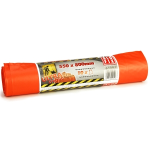 Vrecia na odpad v rolke Alufix, extra silné, 60 l, oranžové, 10 ks