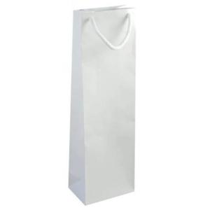 Papierová taška na víno NATALY, biela