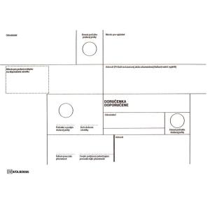 Obálky s doručenkou  doporučene  C4 formát, 50 ks/balenie