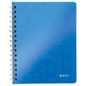 Leitz WOW špirálový zápisník, A5, linajkový, modrý