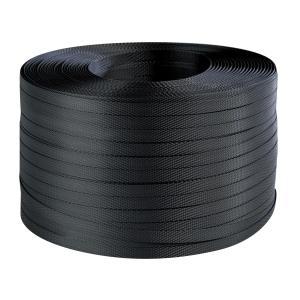 Viazacia PP páska, 12 mm x 0,5 mm x 1000 m, čierna