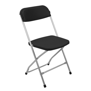 Skladacia stolička Medina, čierna