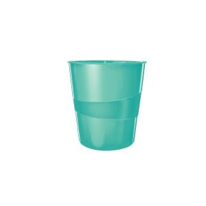 Odpadkový kôš Leitz WOW 15 l, ľadovo modrý