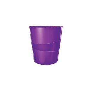 Odpadkový kôš Leitz WOW 15 l, fialový