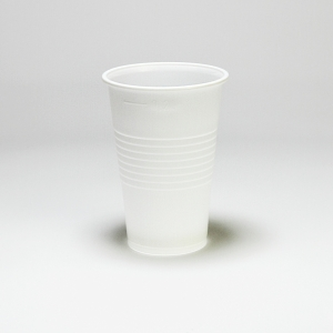 Plastové poháre biele 200 ml, 100 kusov