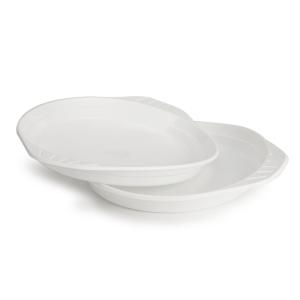 Plastový tanier biely, Ø 22 cm, 100 kusov