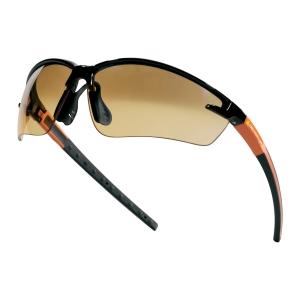 DELTAPLUS FUJI2 Ochranné okuliare, čierna/oranžová farba