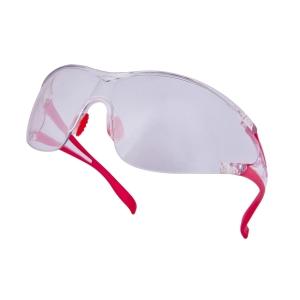 DELTAPLUS EGON Ochranné okuliare, červená/číra zrkadlovka