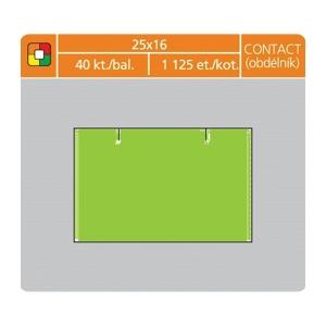 Cenové etikety S&K Label, 25x16mm, contact, neónová zelená, 1125 etikiet/kotúč