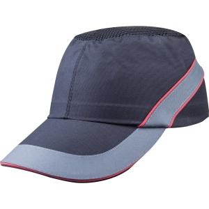 Nárazuvzodrná šiltovka DELTAPLUS AIR COLTAN, veľkosť 55 až 62, čierno-červená