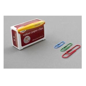 Farebné kancelárske spony SaKOTA 50 mm, mix farieb, 100 ks