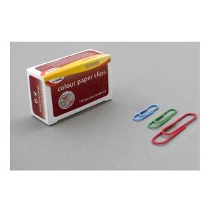 Farebné kancelárske spony SaKOTA 33 mm, mix farieb, 100 ks