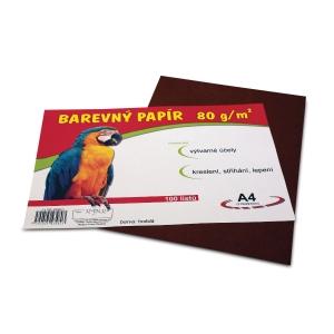 Stepa farebný papier A4 80g/m2 hnedý, balenie 100 listov