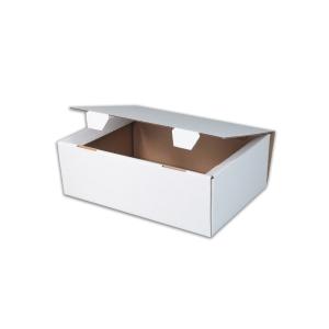 Jednodielna krabica s vekom , 250 x 175 x 100 mm, biela, 50 kusov