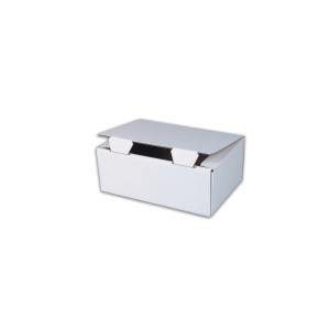Jednodielna krabica s vekom , 302 x 207 x 110 mm, biela, 50 kusov