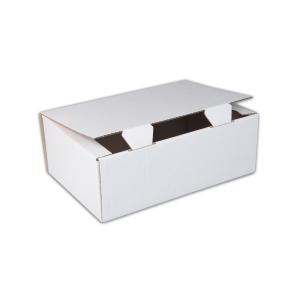 Jednodielna krabica s vekom , 350 x 250 x 120 mm, biela, 50 kusov