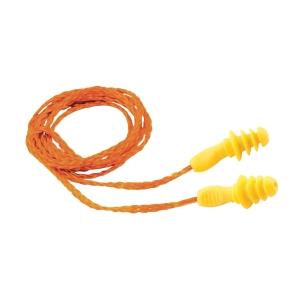 Zátkové chrániče sluchu pre opakované použitie ARDON P201, oranžovo-žlté, 100 ks