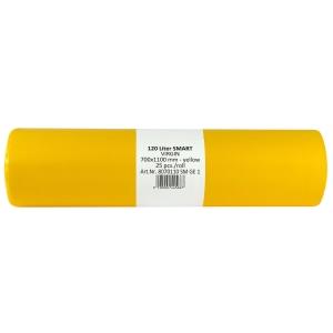 Alufix odpadové vrecia, 120l, farba žltá, 25 ks