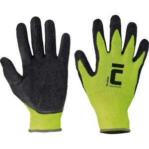 Viacúčelové rukavice, nylonové s latexovou dlaňou, veľkosť 10