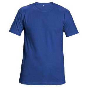 Tričko s krátkym rukávom, bavlna, veľkosť XL, farba kráľovská modrá