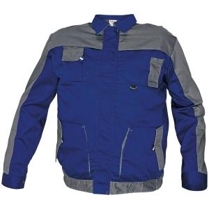 Montérková bunda, veľkosť 48, farba modrá/sivá