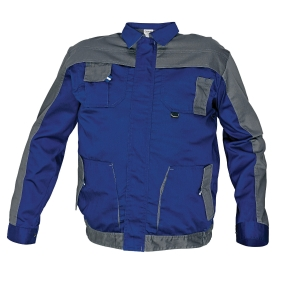 Montérková bunda, veľkosť 52, farba modrá/sivá