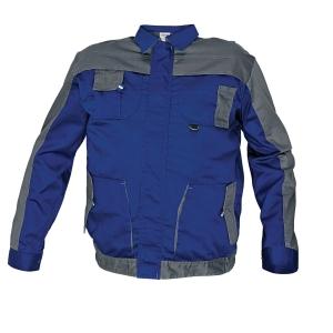 Montérková bunda, veľkosť 54, farba modrá/sivá
