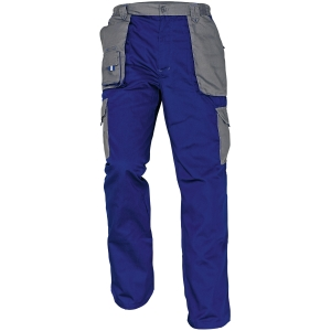 Montérkové nohavice do pása, veľkosť 48, farba modrá/sivá