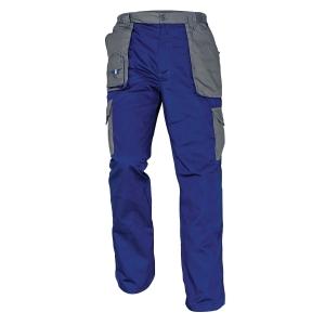 Montérkové nohavice do pása, veľkosť 50, farba modrá/sivá