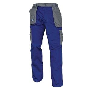 Montérkové nohavice do pása, veľkosť 56, farba modrá/sivá