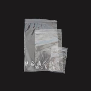 Rýchlouzatváracie PE vrecká, 70 x 100 mm, transparentné, 100 kusov