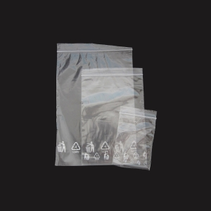 Rýchlouzatváracie PE vrecká, 180 x 250 mm, transparentné, 100 kusov
