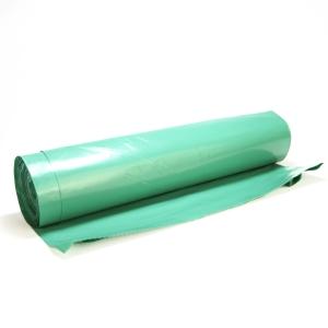 Vrecia na odpad 110 l, 70 x 110 cm, zelené, 25 ks