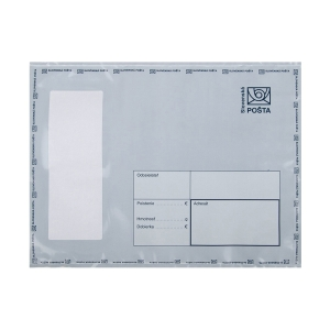Plastová obálka na ceniny Slovenská pošta, C5+, 195 x 255 mm, biela