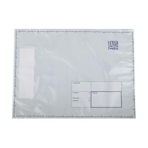 Plastová obálka na ceniny Slovenská pošta, C4+, 295 x 400 mm, biela