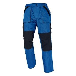 Pánske montérkové nohavice do pása ČERVA MAX, veľkosť 50, modro-čierne