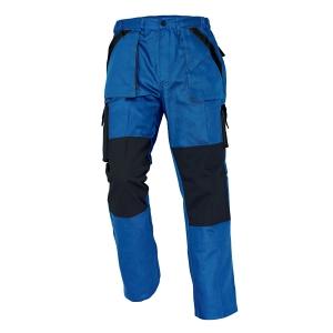 Pánske montérkové nohavice do pása ČERVA MAX, veľkosť 58, modro-čierne