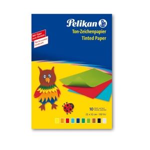 Farebné papiere Pelikan, 33x23 cm, 10 listov, 10 farieb, 130 g/m2