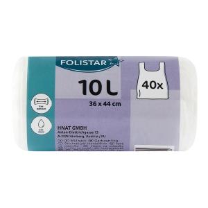 Zaväzovacie odpadové vrecia biele 10 l, balenie 40 kusov