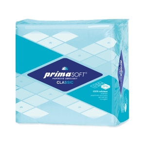 Primasoft servítky 33 x 33 cm, modré, balenie 100 ks