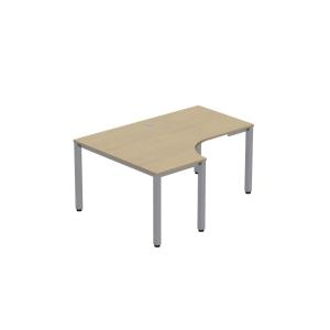 Easy Space L alakú munkaasztal bal, 120 x 180 x 60 x 80 cm, juhar