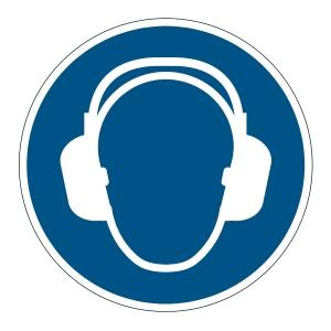DURABLE biztonsági figyelmezt. címke padlóra   Hallásvédő használata kötelező