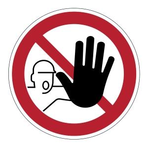 DURABLE biztonsági figyelmeztető címkék padlóra   Belépni tilos