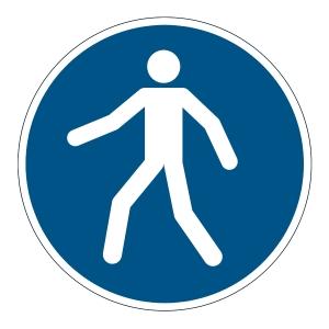 DURABLE biztonsági figyelmeztető címkék padlóra   Gyalogos közlekedés