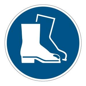 DURABLE biztonsági figyelmeztető címkék padlóra   Védőcipő használata kötelező