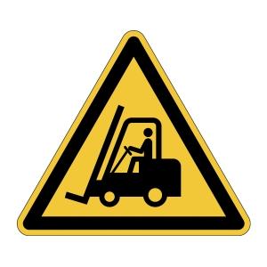 DURABLE biztonsági figyelmezt. címkék padlóra   Vigyázat! Emelővillás targonca