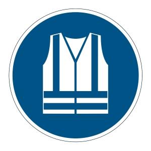 DURABLE bizt. figyelmeztető címkék padlóra   Fény. mellény viselése kötelező